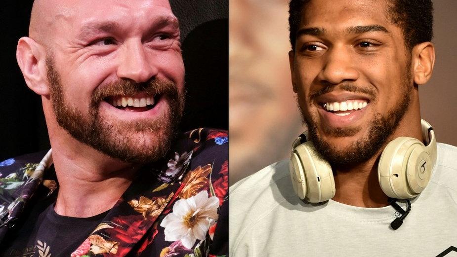 Tyson Fury (z lewej) i Anthony Joshua