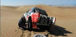Małysz urwał koło w Dakarze!