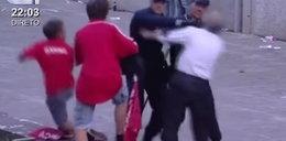 Makabra. Policjant sadysta przy dziecku katuje ojca