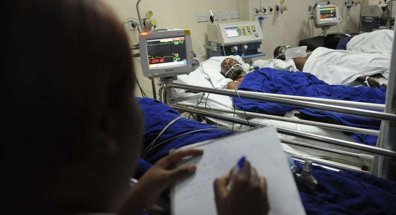 A photo inside a hospital in Kenya