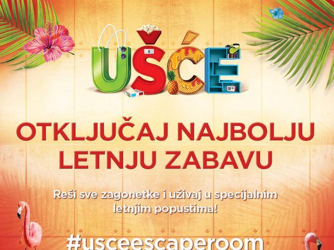 OTKLJUČAJ SVOJ UŠĆE POPUST: Escape Room tokom leta ispred UŠĆE Shopping Centra