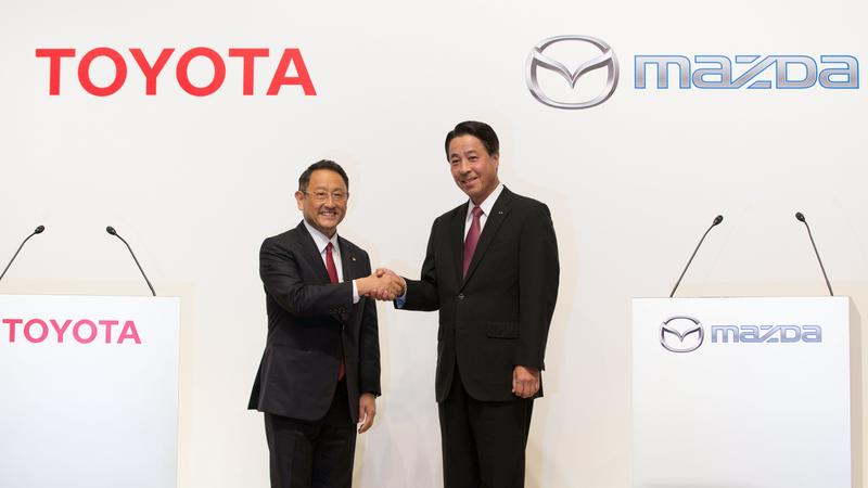 JAPAN AUTOMOTIVE TOYOTA MAZDA (Toyota Motor Corporation and Mazda Motor Corporation announce electric vehicles partnership)