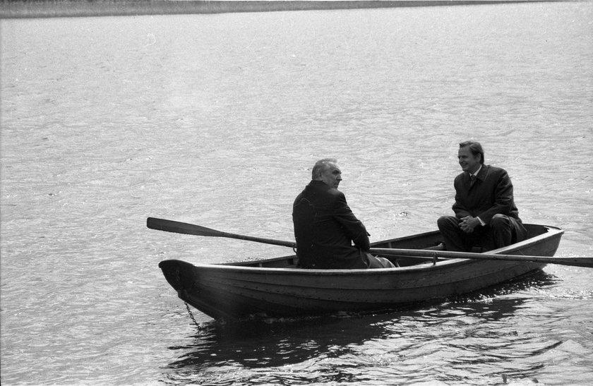 Edward Gierek i premier Szwecji Olof Palme