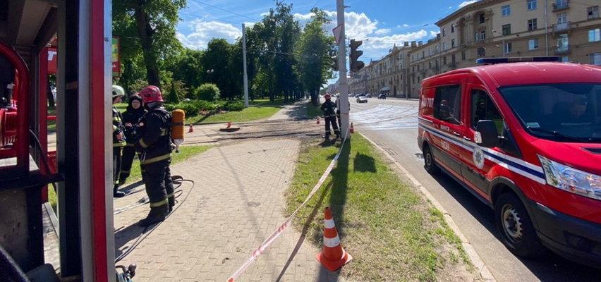 Wybuch w okolicach polskiej ambasady na Białorusi
