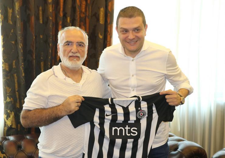 Ivan Savidis u poseti Partizanu
