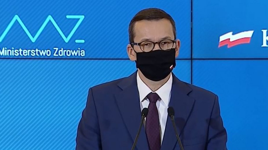 Mateusz Morawiecki na konferencji