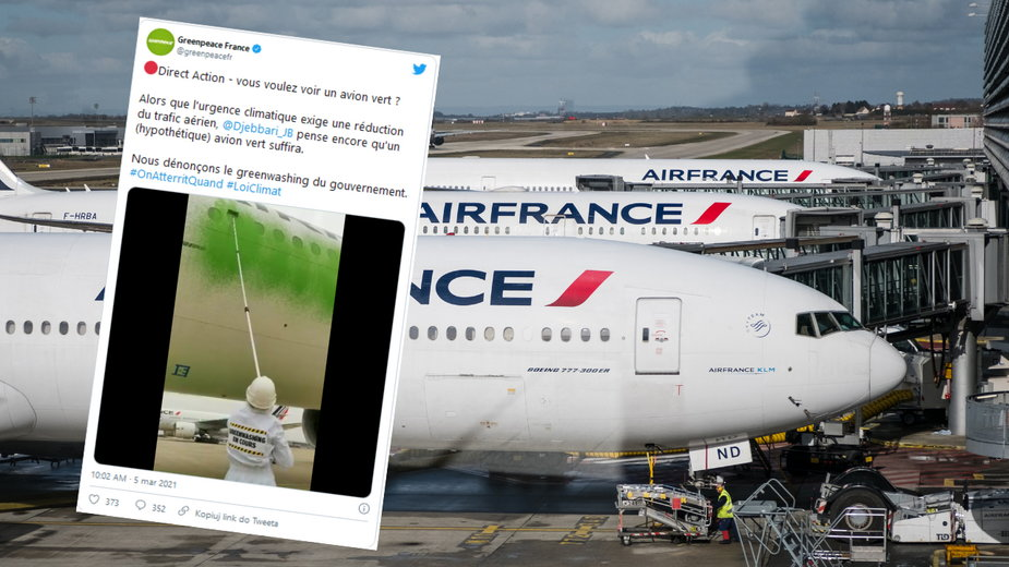 Zdewastowano samolot? Akcja działaczy Greenpeace