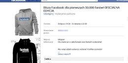 Obiecują bluzy dla fanów Facebooka! Wystawią cię na Allegro