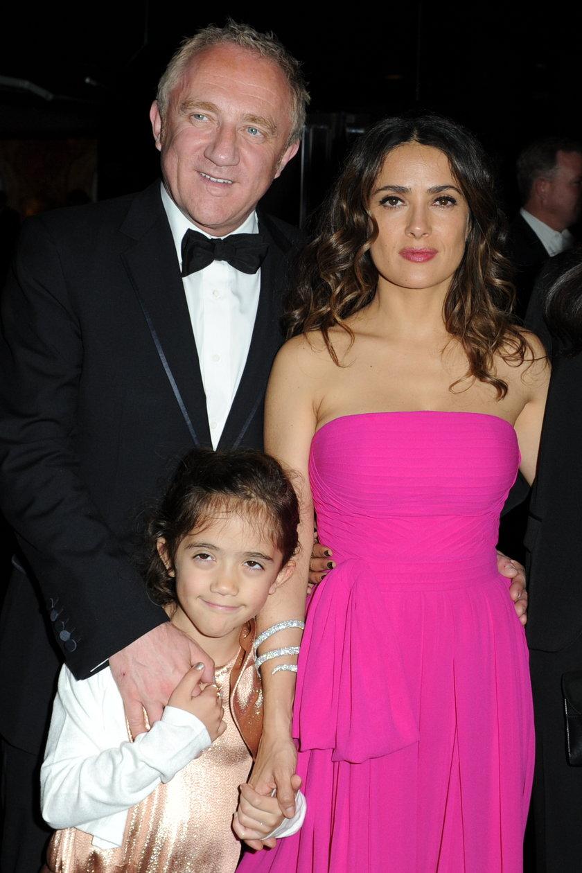 Salma Hayek i François-Henri Pinault z córką
