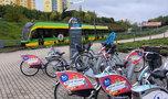 Wielka klapa rowerów miejskich
