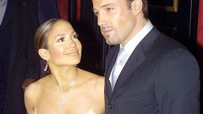 Ben Affleck and Jennifer Lopez all cosy as they go out on a date