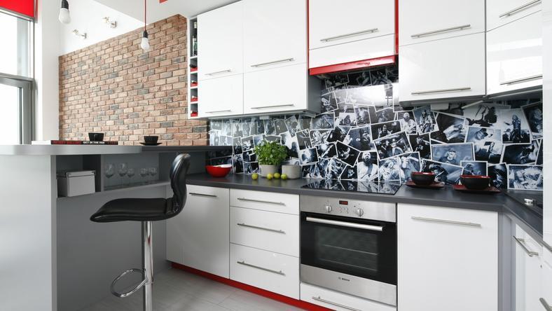 Ściana nad kuchennym blatem