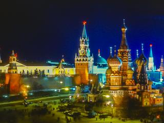 Red Square and the Kremlin Illuminated at Night
