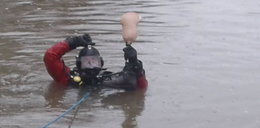 Nietypowa akcja. Szukali protezy nogi w rzece