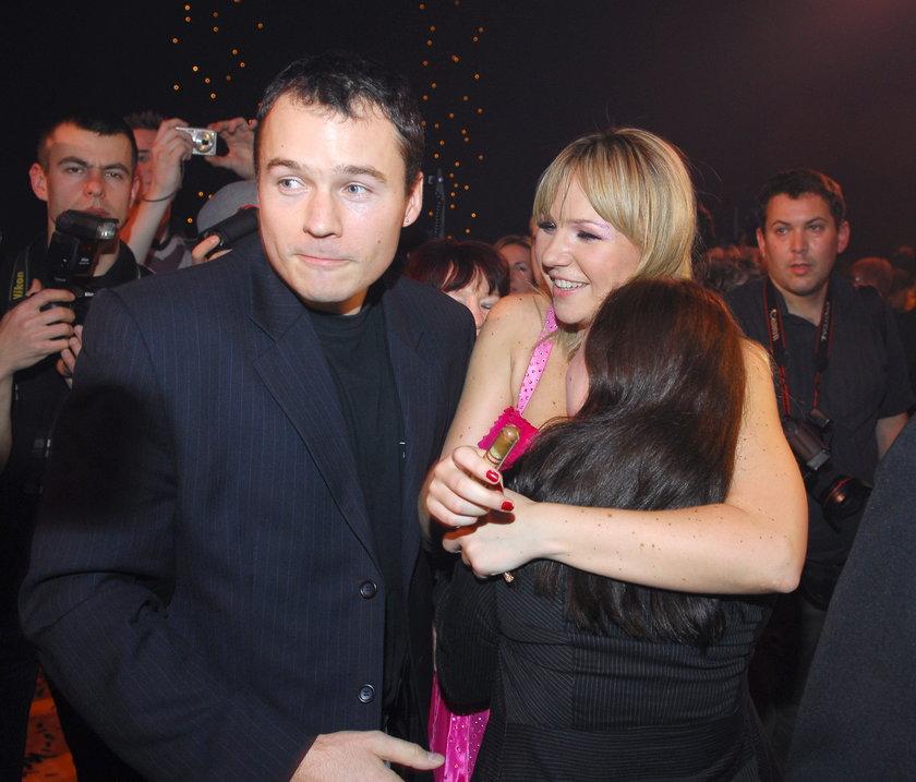 Anna Guzik z bratem, Piotrem