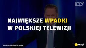Największe wpadki w polskiej telewizji