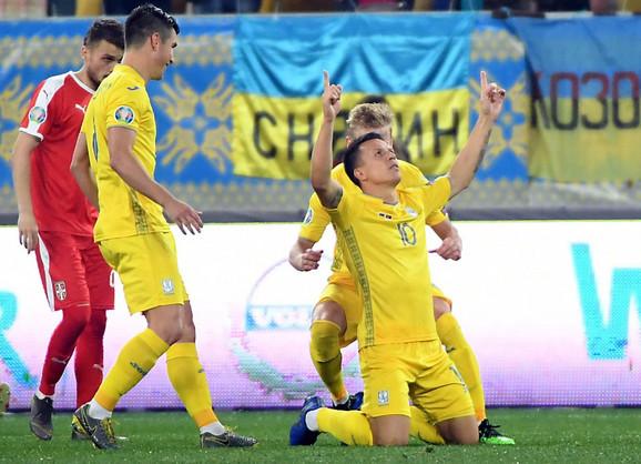 Jevgenij Konopljanka, dvostruki strelac u pobedi Ukrajine nad Srbijom