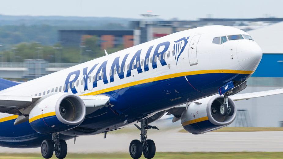Samolot Ryanair na gdańskim lotnisku (zdjęcie ilustracyjne)
