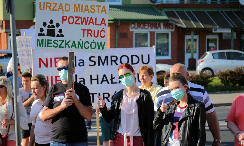 Protest w sprawie Hutchinsona na Chojnach