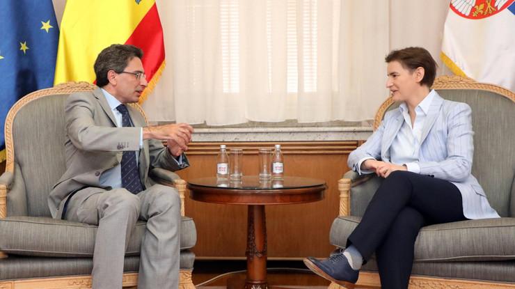 Ana Brnabić, ambasadoro Španije Raulo Bartolomeo Molina