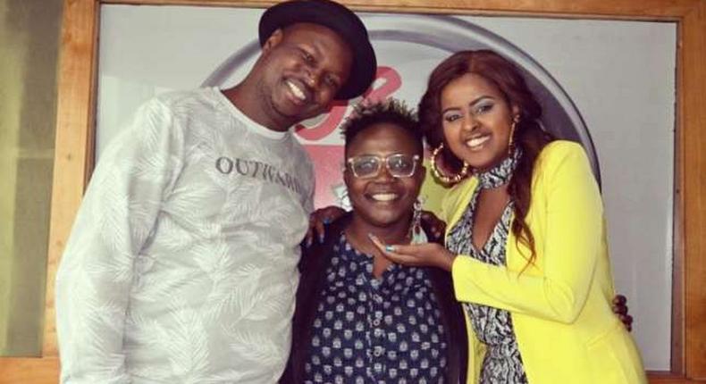 Former Capital FM presenter Laura Walubengo, Maqbull and Amina Rabar