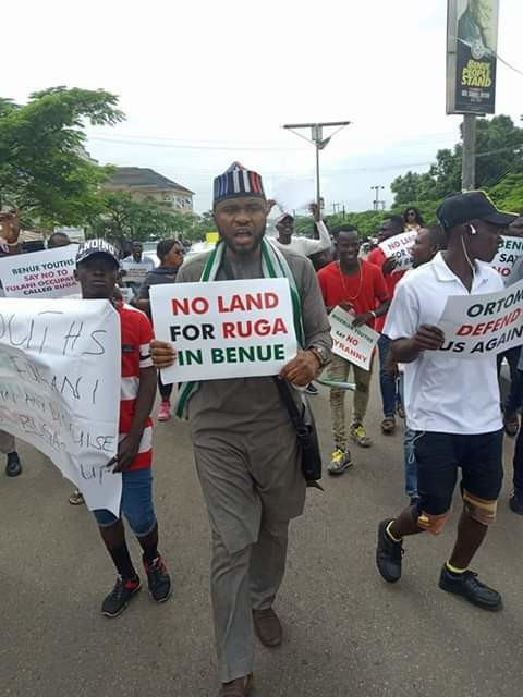 Benue is one of the most vocal states against the implementation of RUGA settlements [Twitter/@CollinsUma]