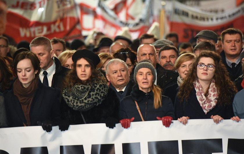 Jarosław Kaczyński przemawiał podczas 95. miesięcznicy smoleńskiej