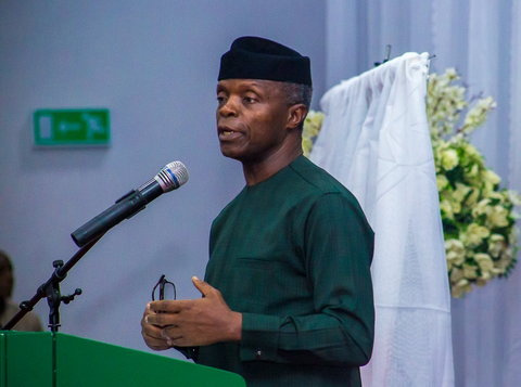Vice President Yemi Osinbajo  says the borders were closed to get the attention of neighbouring countries to take more seriously the question of policing the borders. [Twitter/Buhari Sallau]