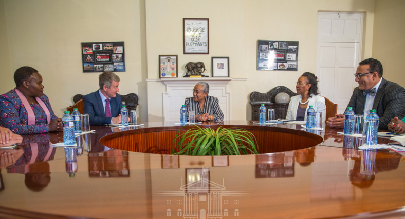 Top officials from the global Elephant Protection Initiative (EPI) paid a courtesy call on First Lady Margaret Kenyatta, who is passionate about saving jumbos and is currently the patron of the Hands Off Our elephants campaign, at State House, Nairobi.