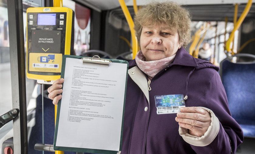 Ewa Kobyłka (57 l.), pasażerka z Sosnowca