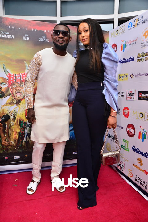 AY Makun at the premiere of 'The Legend Of Inikpi'