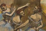 Edgar Dega, Tri balerine u plavom, oko 1900.