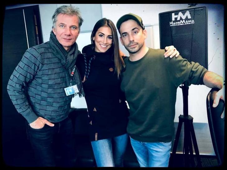 2018 decemberében a Music FM stúdiójában találkozott Gábor és Alexandra (jobbra István Dániel) / Fotó: Facebook