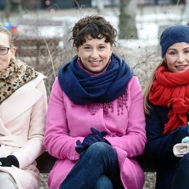 """""""Nie rób scen"""": Joanna Brodzik, Magdalena Popławska i Monika Mariotti na planie nowego serialu TVN"""