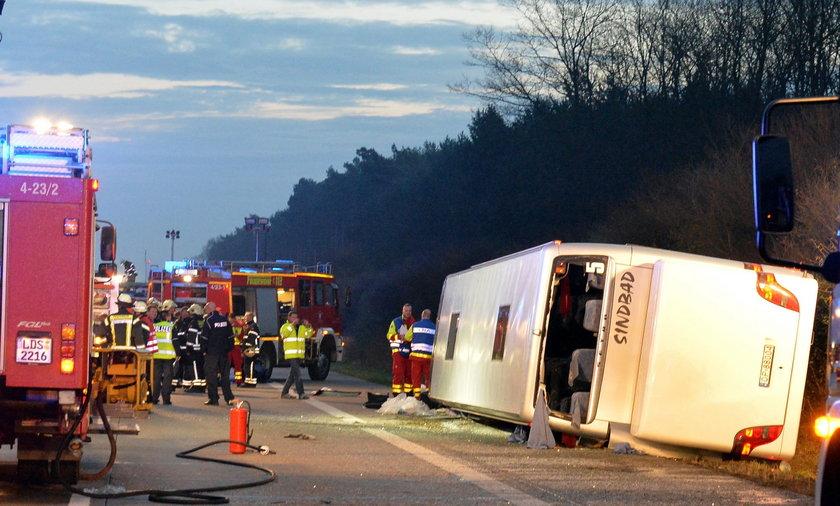 wypadek autobus niemcy