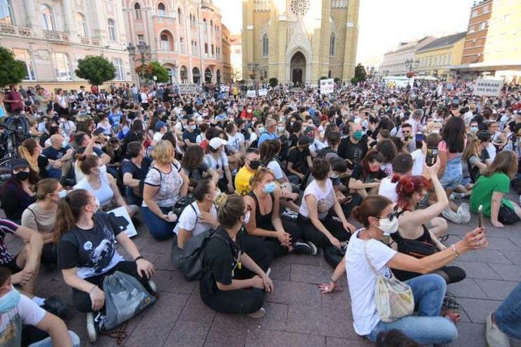 Novi Sad, protest 3 dan