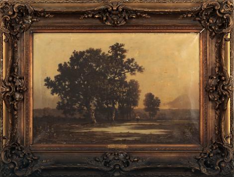 Léon Richet (1847-1907), Foret de Fontainebleau, oko 1890. Huile sur toile, 43,5x65 cm , 2.300 €