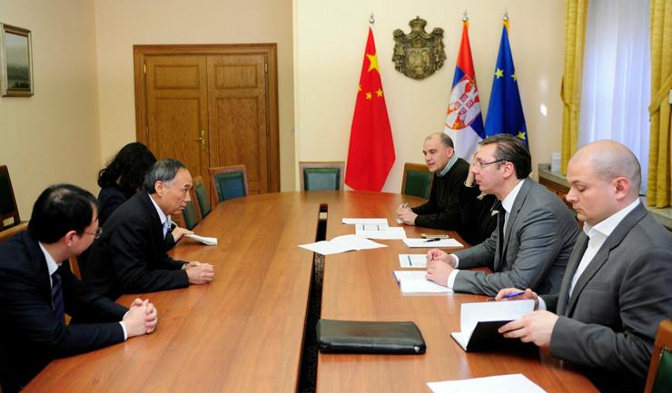 Li Mačang i Aleksandar Vučić tokom današnjeg sastanka
