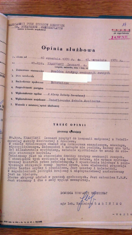W grudniu '70 Leonard Krasulski byłwzorowym żołnierzem!