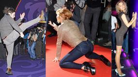 Wypinają się i tańczą przed fotoreporterami