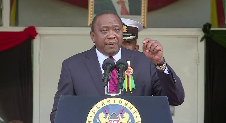 President Uhuru Kenyatta speaking at a past event (YouTube)