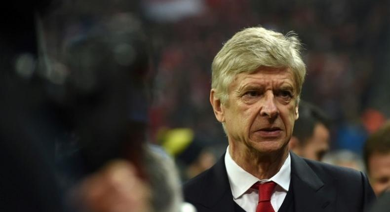 Arsenal's head coach Arsene Wenger arrives in the stadium prior the Champions League round of 16 match against FC Bayern Munich in Munich, southern Germany, on February 15, 2017