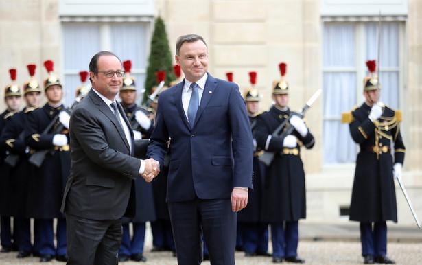 Andrzej Duda przebywa w stolicy Francji z jednodniową, oficjalną wizytą