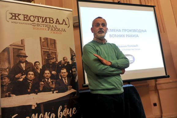Dr Branko Popović: Ne možemo da se merimo sa Francuzima i Britancima jer iza njihovih pića stoje ozbiljna politika i vekovna tradicija