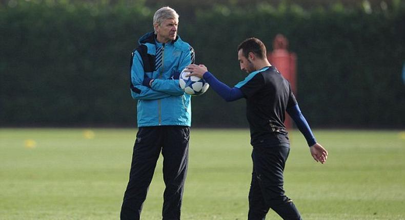 Arsene Wenger and Santi Carzola
