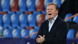 Ronald Koeman said he will hold further talks with Barcelona president Joan Laporta at the end of the season. Creator: JOSE JORDAN