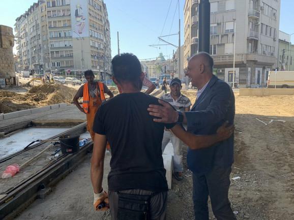 Gradonačelnik sa radnicima u Karađorđevoj