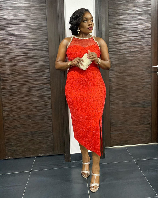 Bisola Aiyeola at the 2020 AMVCA nominee cocktail party [Instagram]