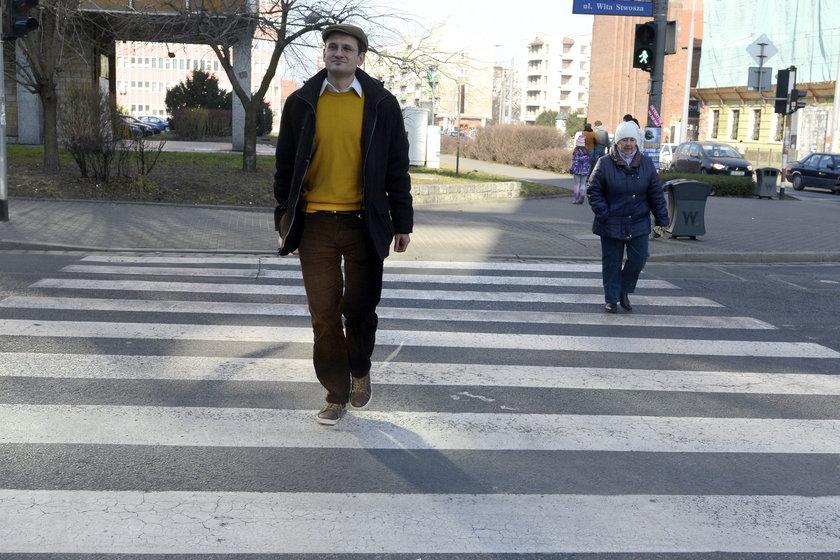 Tomasz Stefanicki (34 l.), oficer pieszy we wrocławskim magistracie