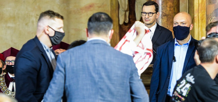 Incydent podczas wystąpienia Morawieckiego. Tak zareagował premier